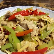 辣椒腐竹炒肉