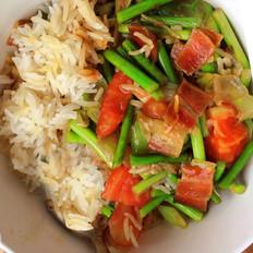 火腿煲仔饭(炒菜版)
