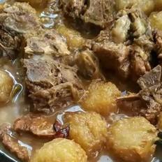 葱烧土豆大排