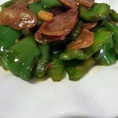 青椒炒腊肠