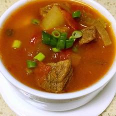 番茄炖土豆牛肉汤