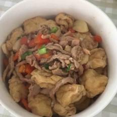 油豆腐闷肉