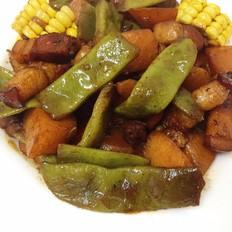 土豆炖油豆角