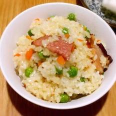腊肉雪豆糯米饭