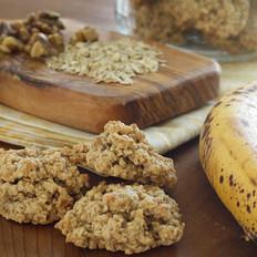 减肥零食—香蕉坚果麦片饼