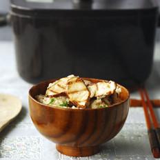 松茸烩饭配和牛卷
