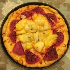 五彩风情水果披萨