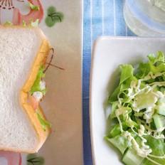 能量早餐三明治
