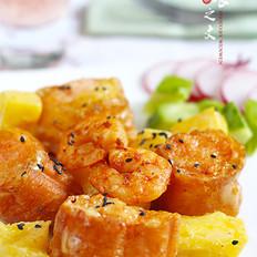 菠萝油条虾
