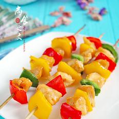 烤彩椒鸡肉串