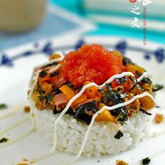 明太鱼籽沙拉饭