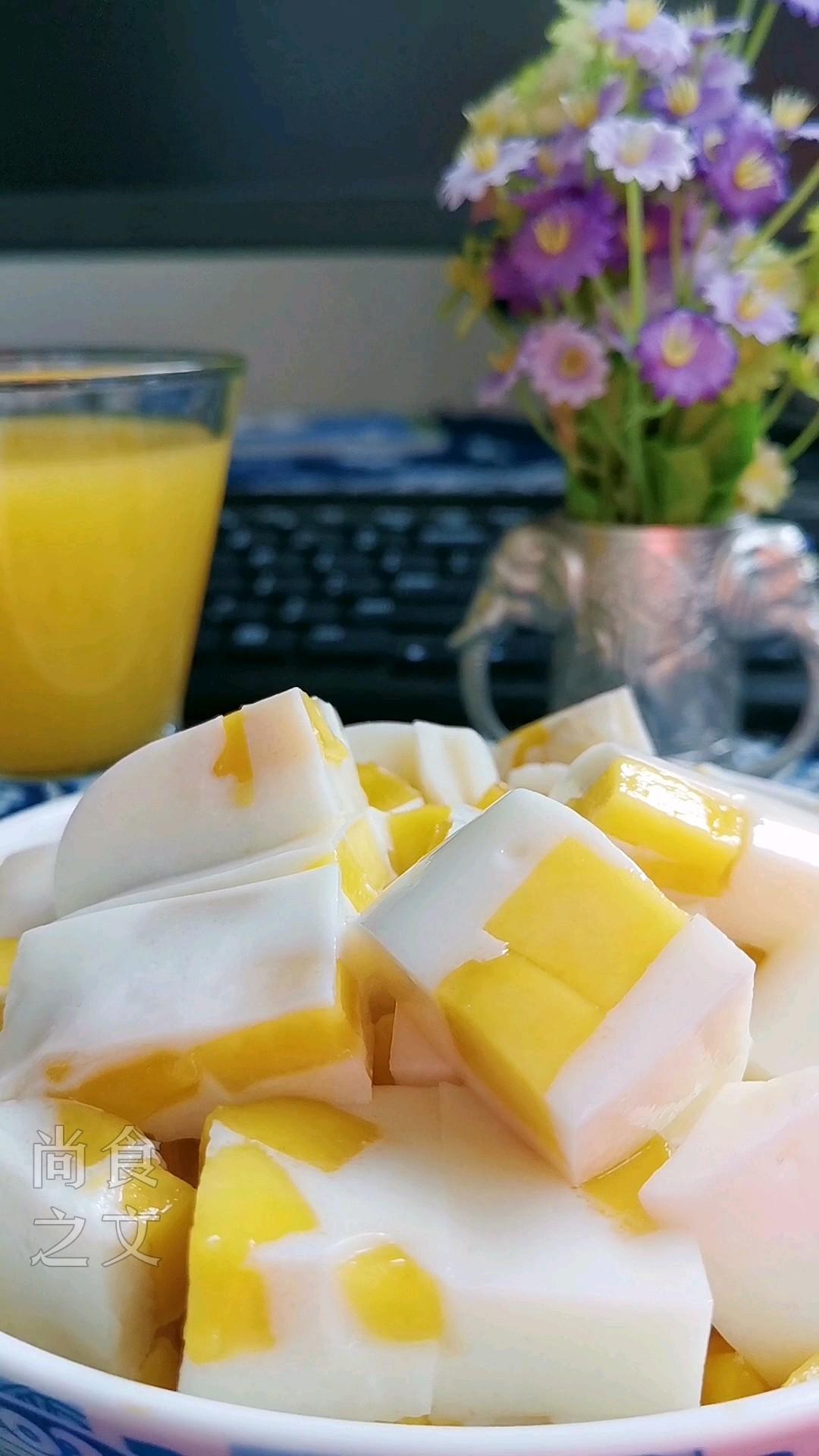只需几步,做出春天的颜色之芒果奶冻