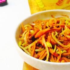 豆芽炒胡萝卜