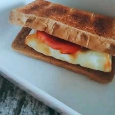 月瘦10斤系列之早餐黑麦三明治