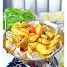 咖喱鸡饺子火锅