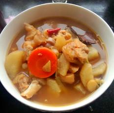 砂锅山药黄豆炖猪蹄