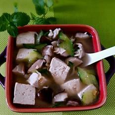 鲜香菇豆腐汤