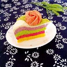 美丽的彩虹发糕