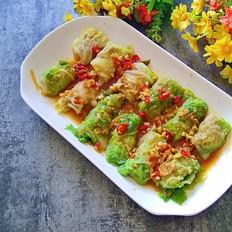 香辣白菜卷肉