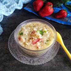 宝宝果蔬磷虾粥早餐