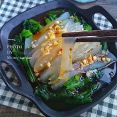 菠菜拌凉粉