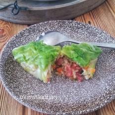 包菜腊肠糯米卷