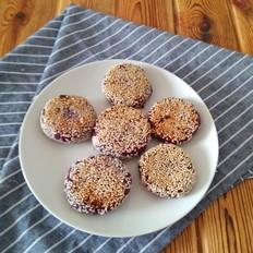 紫薯红糖芝麻饼