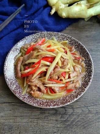 姜丝炒肉的做法