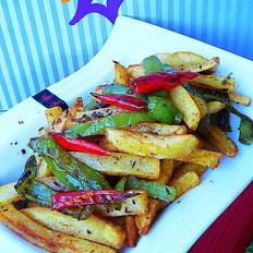 双椒煸薯条