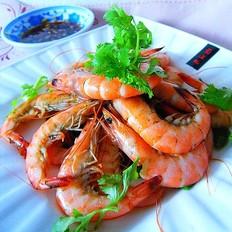 黄酒焖斑节虾