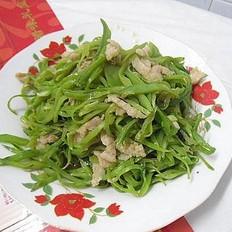 肉炒豆角丝