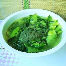 小白菜炖红薯粉