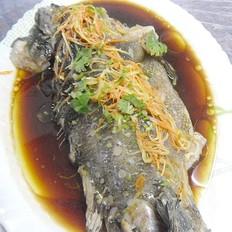 清蒸海参斑鱼