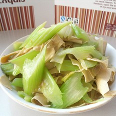 西芹豆腐皮