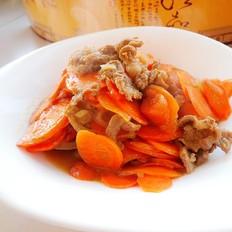 羊肉炒胡萝卜