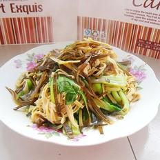 油菜海带豆腐丝