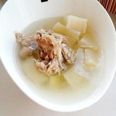 猪骨煲白萝卜