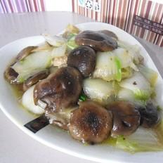 香菇白菜片