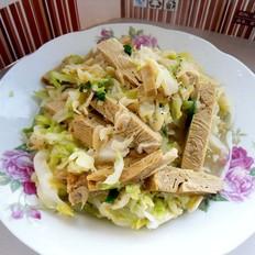 圆白菜炒豆腐干