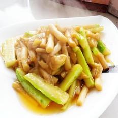 瓜条炒鲜菇