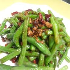肉末煸炒四季豆