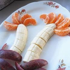 香蕉树果盘