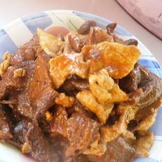 咖喱肉片炒蘑菇