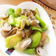 草菇烧丝瓜