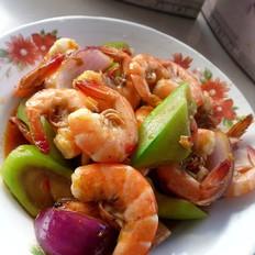 丝瓜烧虾段