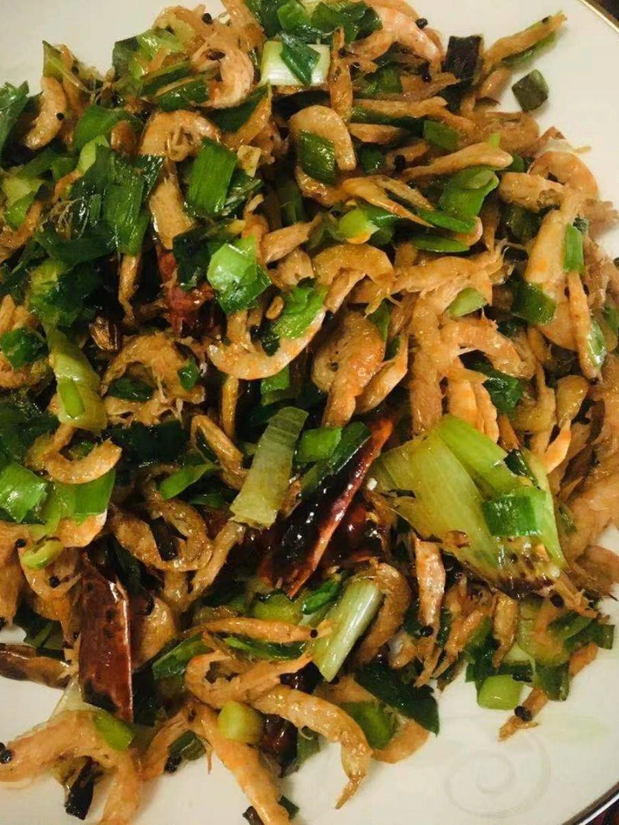 虾米炒韭菜