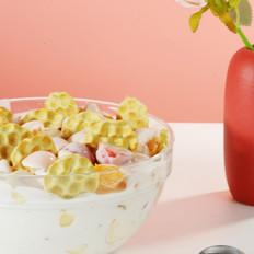 石头饼酸奶水果捞
