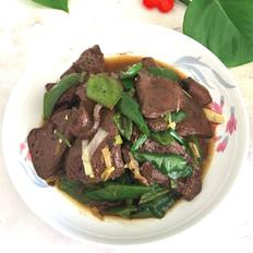 猪血豆腐炒尖椒