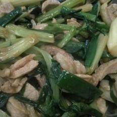 香芹炒猪肉