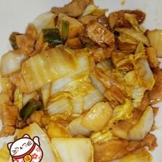 柱侯酱五花肉炒白菜